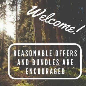 Welcome | Reasonable Offers and Bundles Encouraged